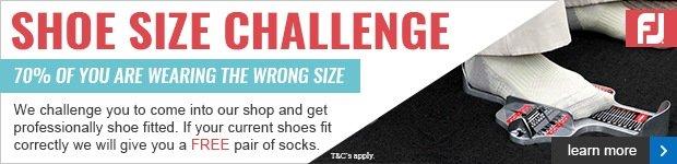 FootJoy Shoe Size Challenge