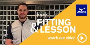 Get a free fitting & lesson with Mizuno equipment