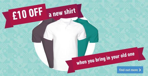 Shirt Amnesty -  £10 off a new shirt